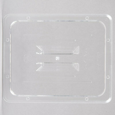 1/2 Size Clear Plastic Polycarbonate Food Pan Lid with Handle