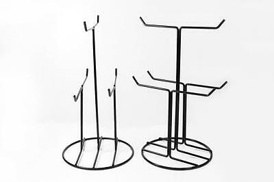 2 stands Black Wire Rack counter shop display keychain charm gift jewelry 6 pegs