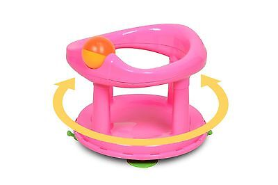 Safety 1St Baby Swivel Bath Seat In Pink (New)