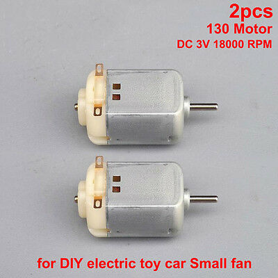 2pcs DC 3V 130 Motor 18000 RPM 4-wheel Drive For DIY electric toy car Small fan