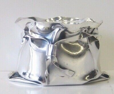 Fine Italian 925 Sterling Silver & Glass Unique Bag Style Salt Holder #sal080