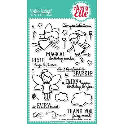 "Avery Elle - Clear Stamps - 4""x6"" Pixie Dust"