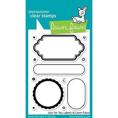 "Lawn Fawn - Clear Stamps - 3""x4"" Just For You Labels"
