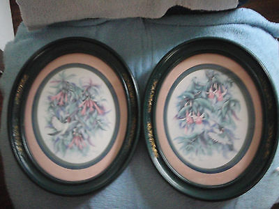 Home Interior Set of 2 pictures Hummingbird and flowers by Dan Kent