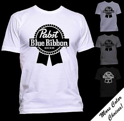 Pabst Blue Ribbon Logo T-shirt - New - More Color Choices and Sizes Now! -