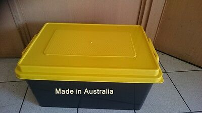 2 X 72 LT heavy Duty Plastic Storage Containers,Crate Bin Boxes with lid