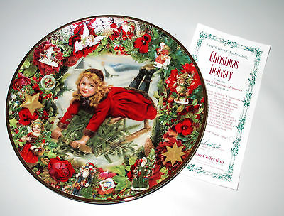 Hamilton Christmas Delivery Plate 1992 Victorian Christmas Memories Grossman