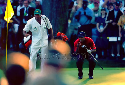 Tiger Woods The Masters 2005 Canvas Print Poster Picture Wall Art Decor Hole 16