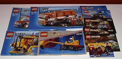 Lego System, City 10x BA, Bauanleitung, only Instructions Manuel,ohne Steine