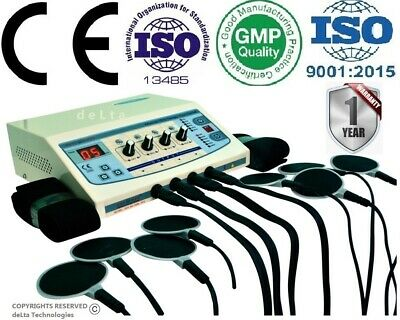 Professional Stimulator 4 channel Electrotherapy  Dynoplus Machine Therapy M98%%