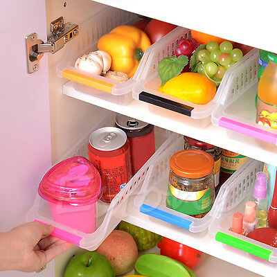 Storage Collecting Box Basket Kitchen Refrigerator Fruit Organiser Rack Holder
