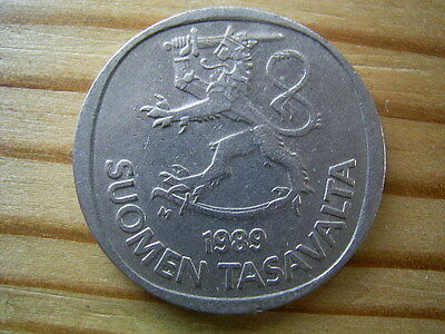 1989 Finland  1 Marrka Coin Collectable