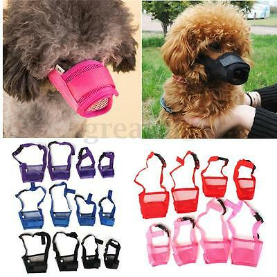 Adjustable Safety Dog Breathable Muzzle Pet Mesh Mouth Mask Anti Chewing Barking