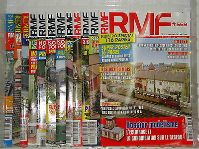Revue RMF 2012 annee complete RAIL MINIATURE FLASH Locomotive Wagon Train DCC