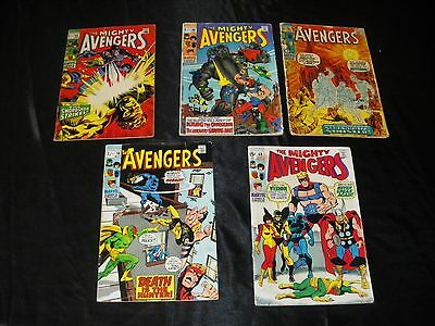 Avengers Vol 1  65  68  69  74  85 Vision Ultron Black Panther Squadron Sinister