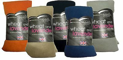 Lavender Microwave Fleece Wheat Bag Herbal Heat Pain Reliever Aromatherapy Aid