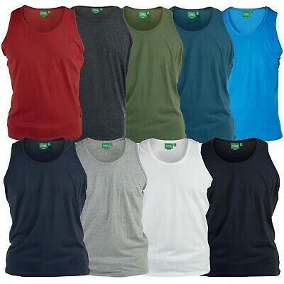 ROCKFORD PURE COTTON PLAIN VESTS IN SIZE 1XL TO 6XL 9 COLORS