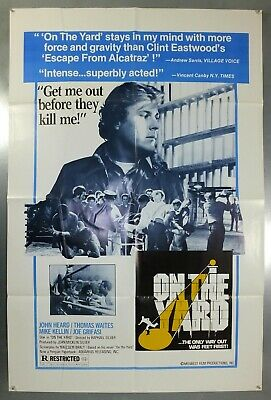 On The Yard - John Heard / Thomas Waites - Original American 1Sht Movie Poster