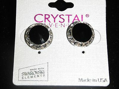 Black Crystal earrings dance moms Ballroom competition perfomance swarovski kids
