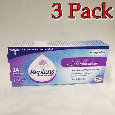 Replens Long-Lasting Vaginal Moisturizer, 14X1.23oz, 3 Pack 366715830357A1231