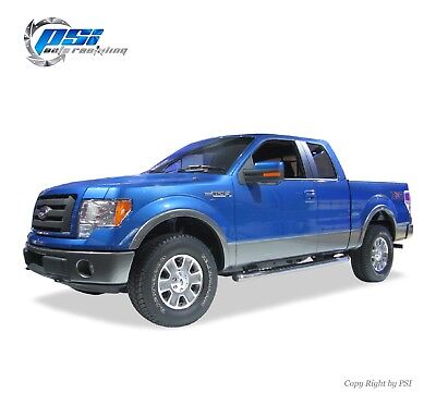 Black Paintable Rugged Street Style Fender Flares 2009-2014 Ford F-150 Full Set