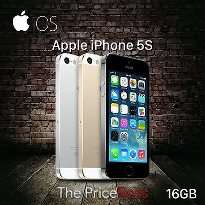 """Apple iPhone 5S 16GB Worldwide """"GSM Factory Unlocked""""  Phone Gold Gray or Silver"""