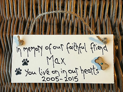 Personalised Dog Memorial Plaque for dog lovers Sign Pug Sausage Boxer Scottie