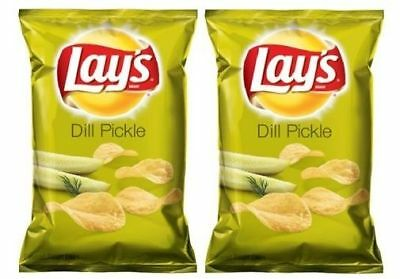 Lay's Dill Pickle Potato Chips 2 Bag Pack