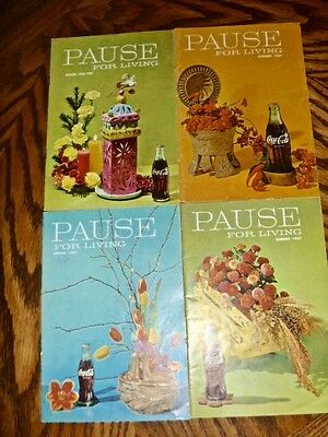 Coke Coca Cola advertising 1967 Pause for Living 4 booklets entertaining