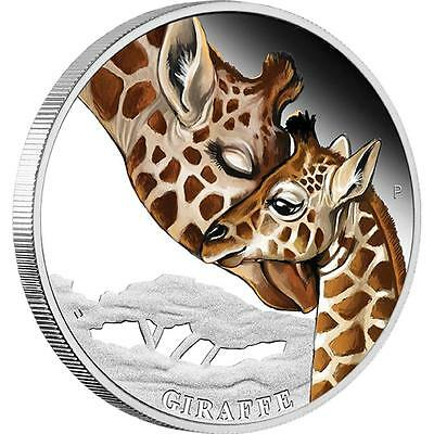 NEW Perth Mint Mother's Love - Giraffe 2014 1/2oz Pure Silver Proof Coin