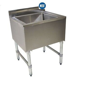 Stainless Steel Under Bar Insulated Ice Bin Chest 30 x 18 NSF