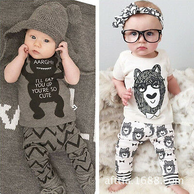 Baby Toddler Kids Clothes 2pcs Outfit Sets / Infant Walking Learning Assistant