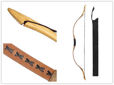 65-80lb Horsebow Archery Hunting Longbow for Target Practice Pigskin Recurve Bow