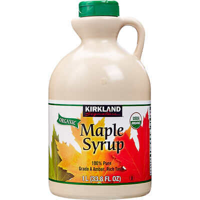 Kirkland Signature 100% Pure Dark Amber Maple Syrup 1 L Grade A Canadian Make