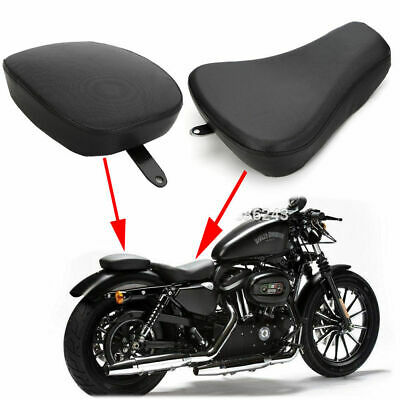 Front Driver Solo Seat+Rear Passenger Pad For Harley Sportster XL1200 883 72 48