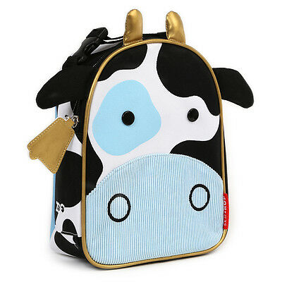 NEW SkipHop Zoo Lunchies Insulated Lunch Bag Cow