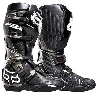 Fox Racing SALE NEW Mx Instinct Dirt Bike Premium Black Motocross Boots SIZE 9