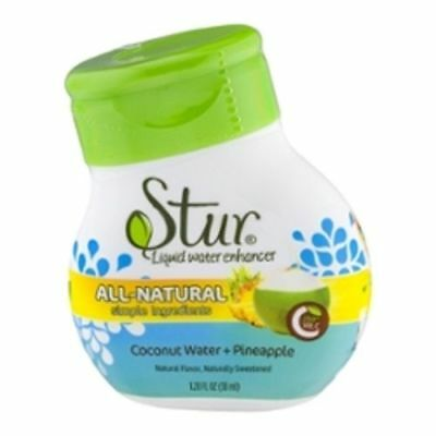Stur All Natural Coconut Water & Pineapple Flavor Enhancer Liquid Drink Mix