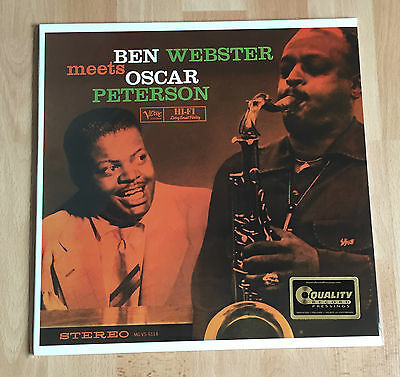 Ben Webster - Meets Oscar Peterson Analogue Productions Verve 45RPM 200g 2-LP