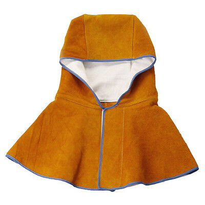 Leather Hooded Shawl Welding Heat insulation Protection Safety Hooded Shawl Hat