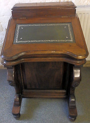 To Clear £350 was £475 Nice Victorian Mahogany Davenport Desk Draws Either Side