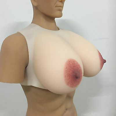 IVITA Big Oval Nipple Silicone Breast Forms For Drag Queen CD TG Realistic Boobs