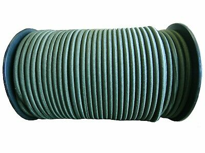 x 10mts camouflage green//brown Elastic Bungee Rope Shock Cord Tie Down 8mm Dia