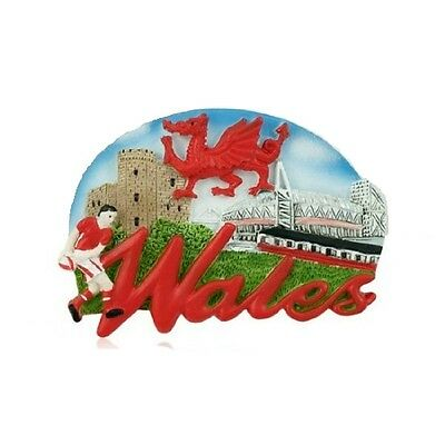 Wales Montage Fridge Magnet Welsh Scenes Scenic Collage Red Dragon Castle