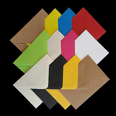 """C7 Coloured Envelopes 82x113 ~3x4"""" for Greeting Cards Party Invitations & Crafts"""