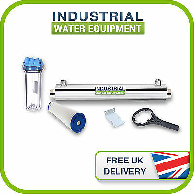 f04f6368945 11w UV Ultra Violet Water Disinfection Filter Steriliser Kit 3.7l pm Pure  Water
