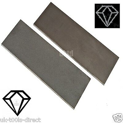 Diamond Whetstone Sharp Sharpener Edge Set 2pc Fine Coarse 150 x 50 x 4mm Solid