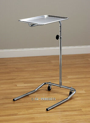 New Mobile Mayo Instrument Stand with Removable Stainless Steel Tray - 221