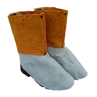 Welding Leather Shoe Cover Heat Insulation Protection Safety Footwear Shoe Cover
