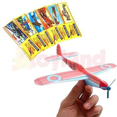6 24 48 Flying Glider Planes Toy School Fair Party Bag Christmas Stocking Filler
